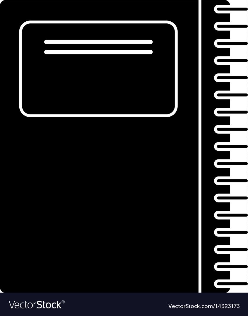 Notebook spiral school pictogram
