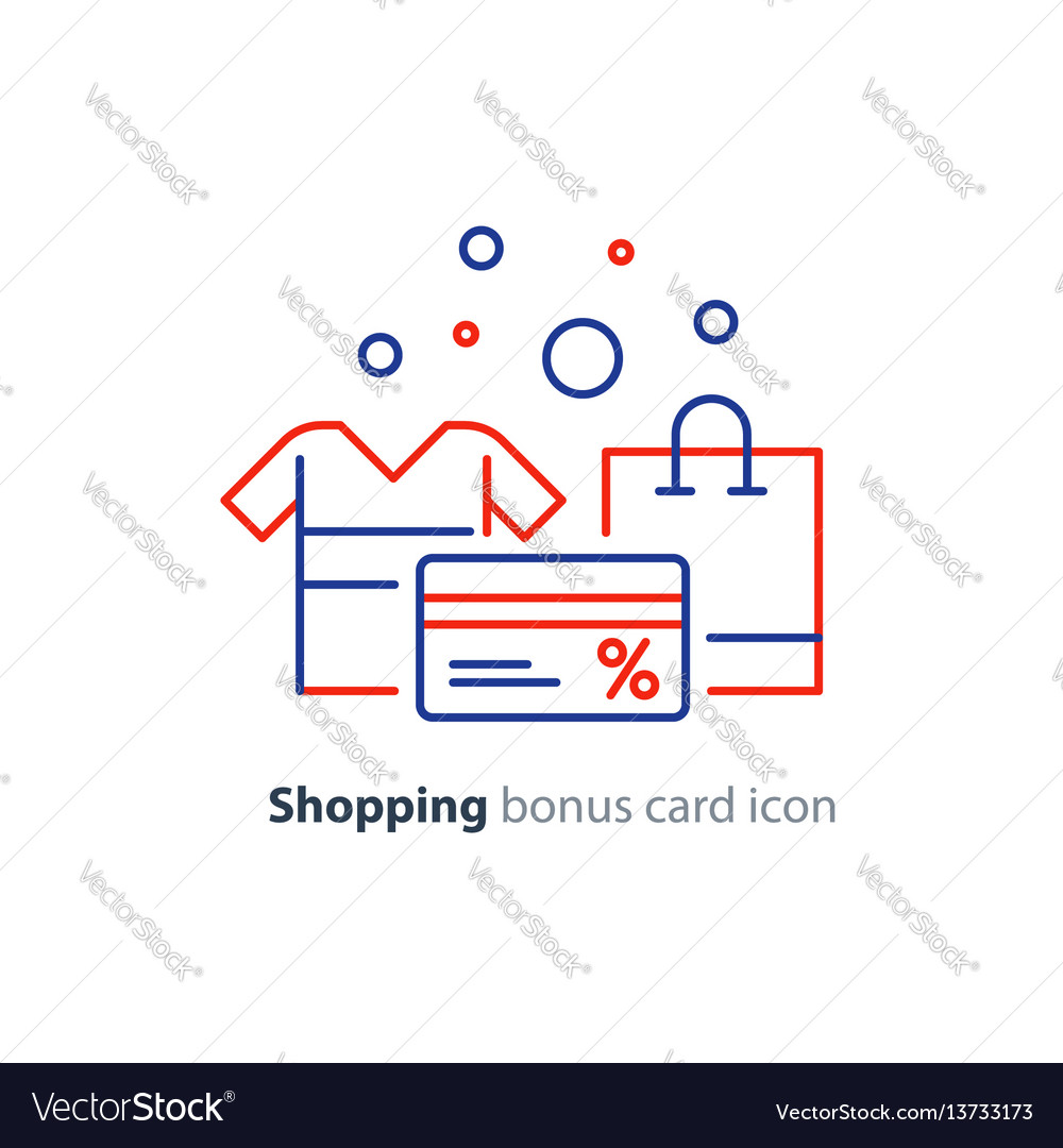 Shopping special offer bonus card loyalty program