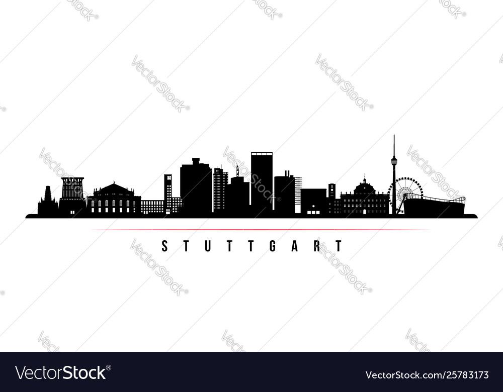 Stuttgart city skyline horizontal banner