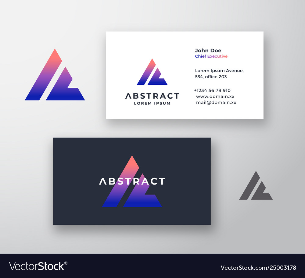 Abstract logo and business card template