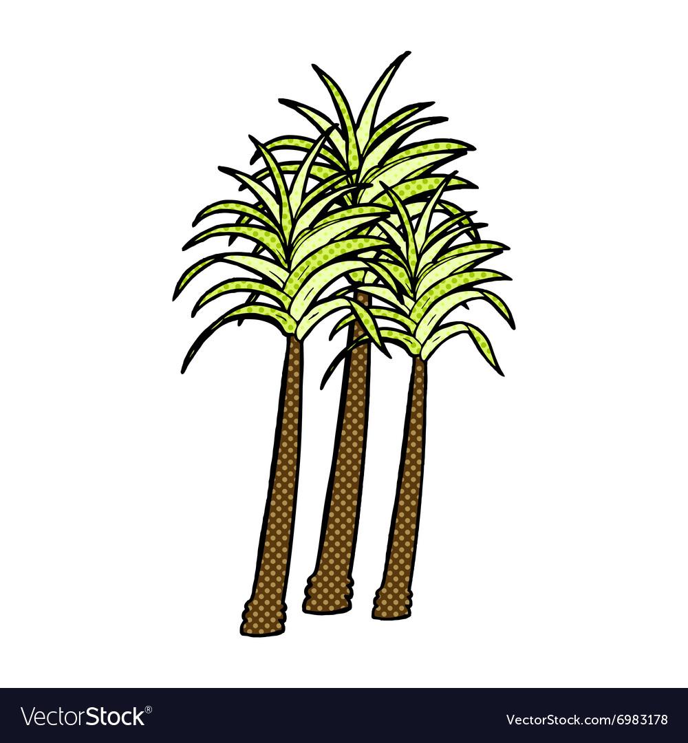 Comic cartoon palm tree