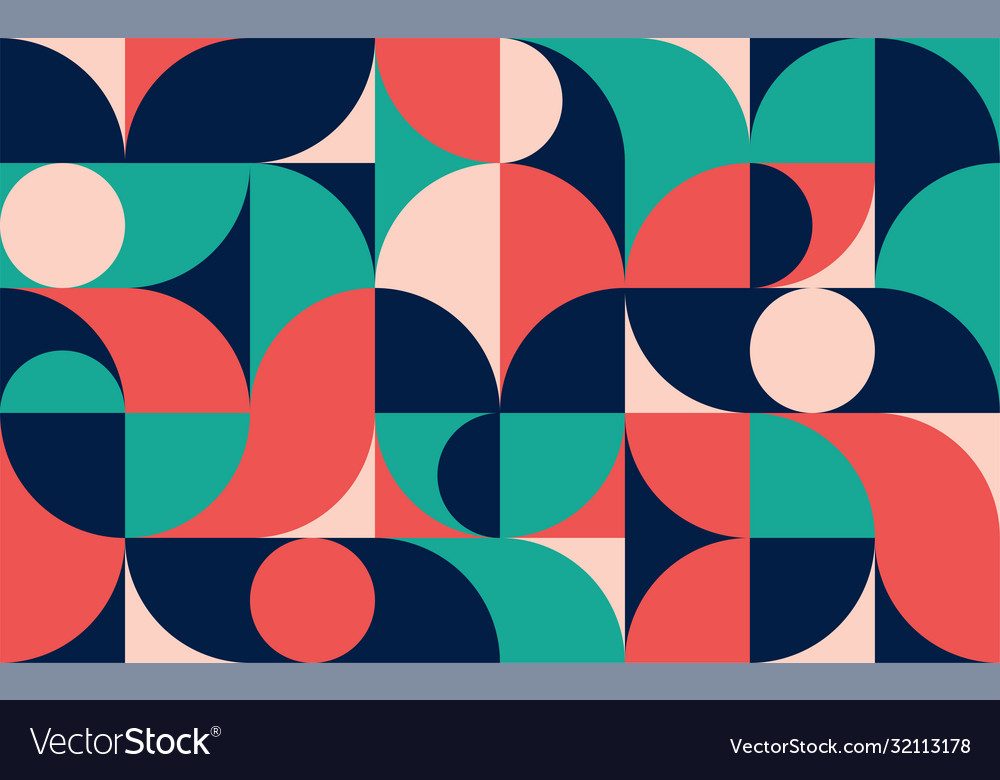 Geometric minimalistic color composition template