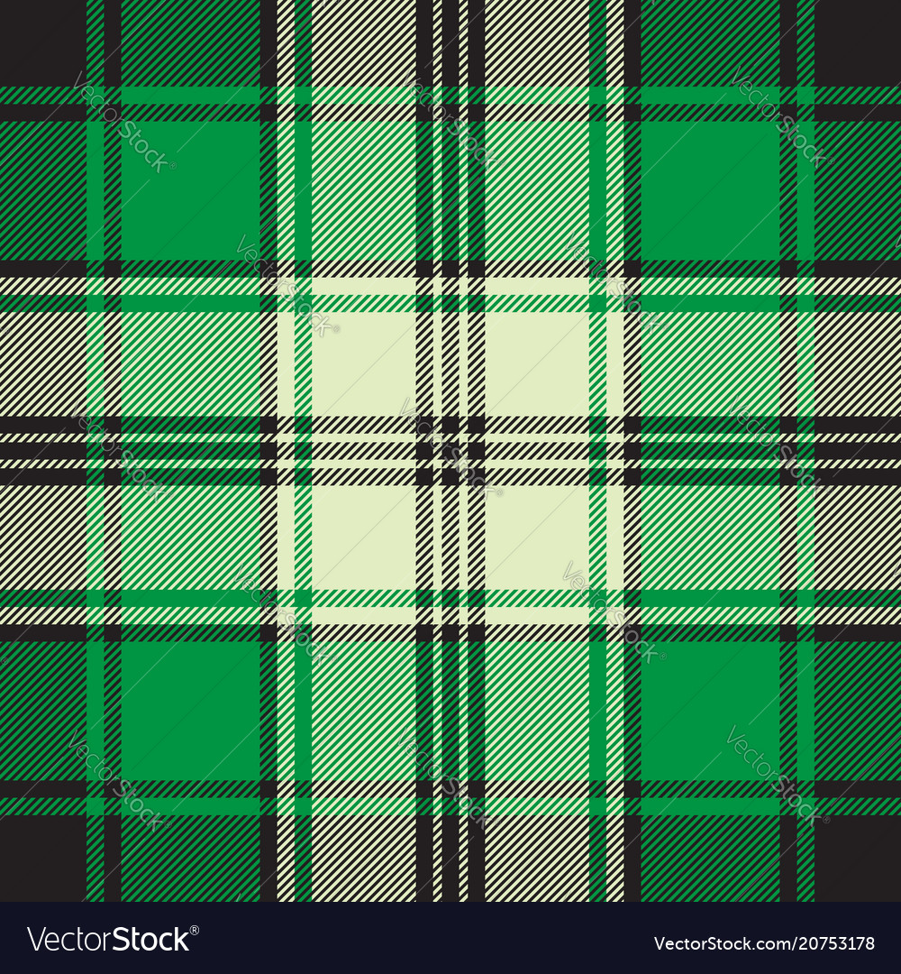 Green check plaid seamless fabric texture