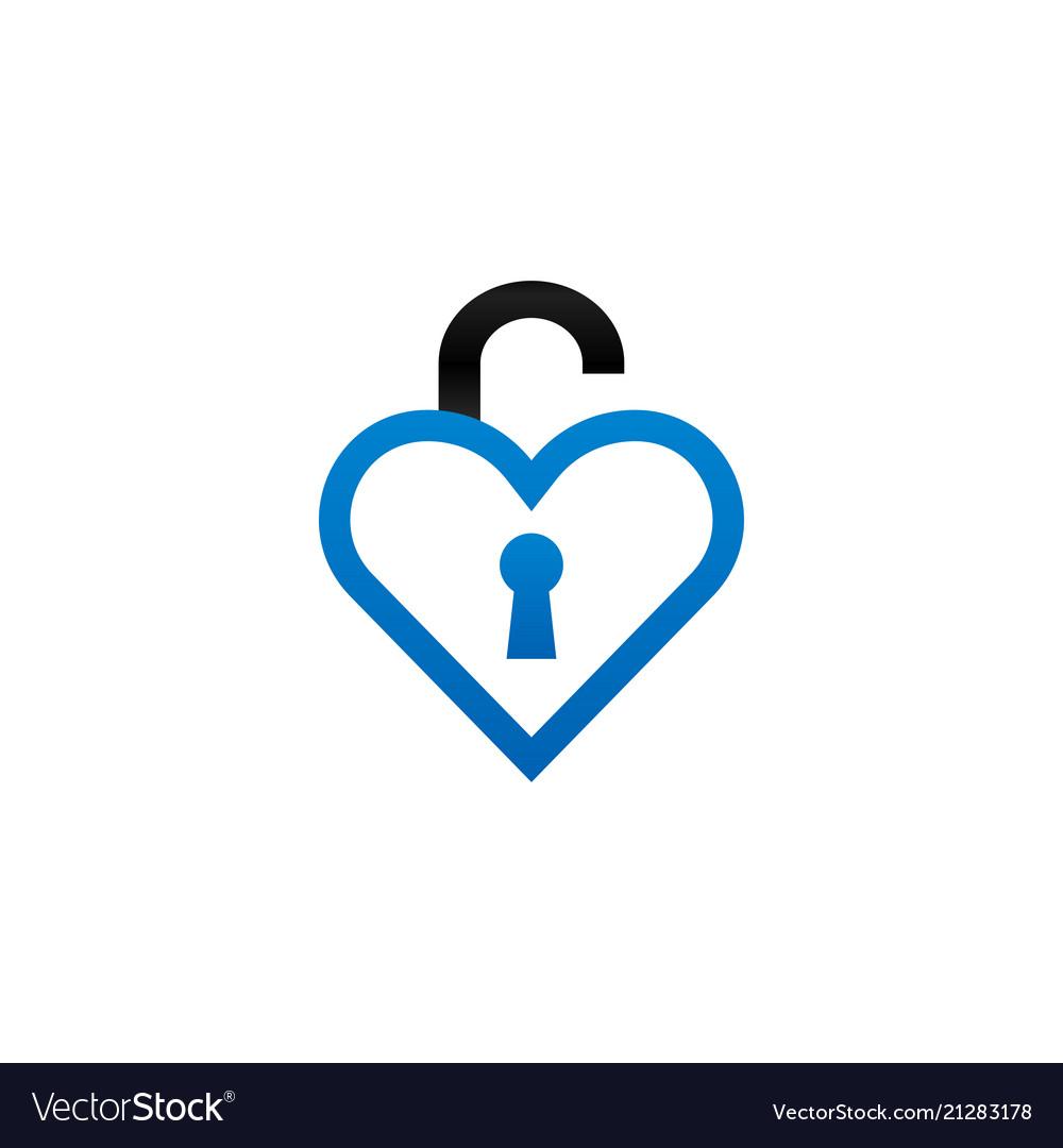Heart Shape Logo Design Template Royalty Free Vector Image