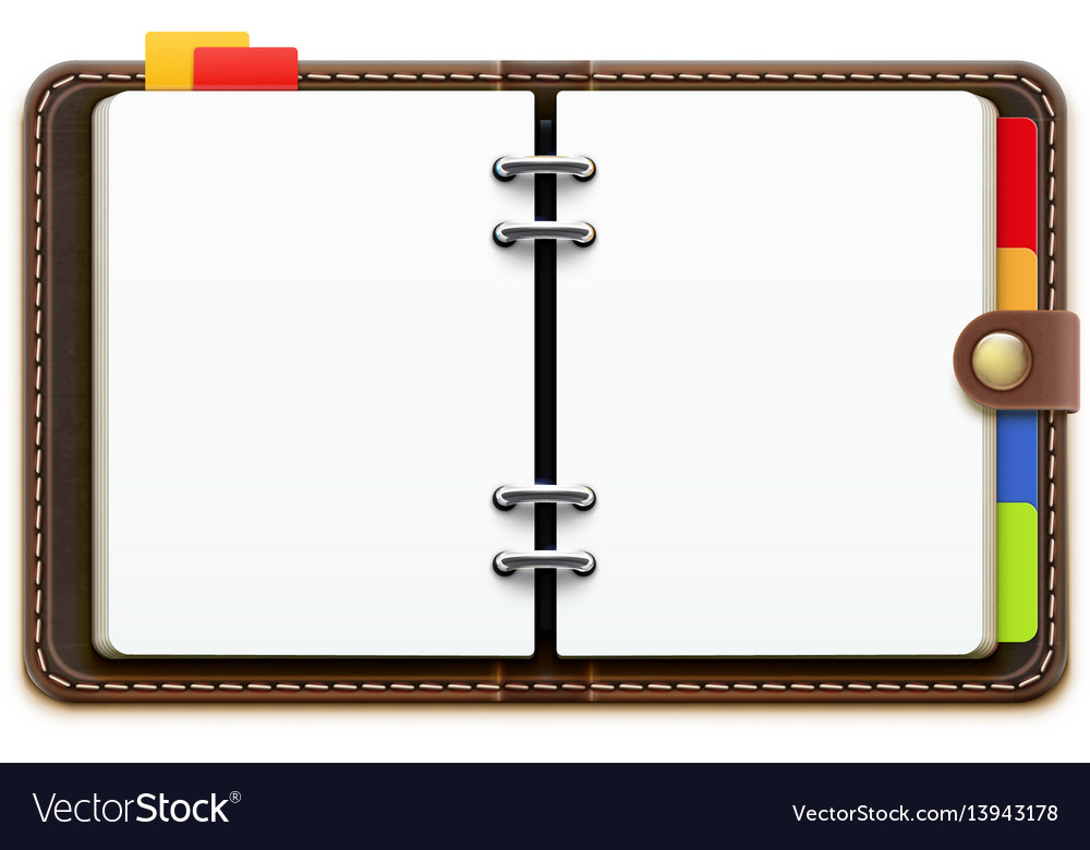 Leather personal organizer vector image
