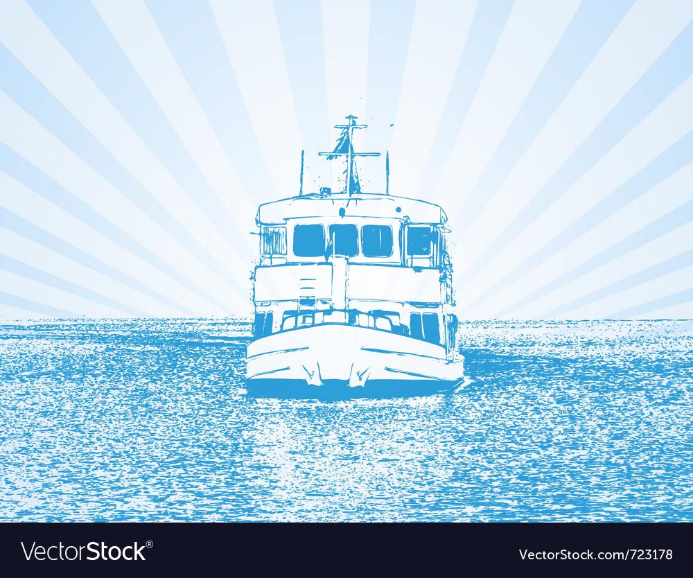 Of a ship vector image