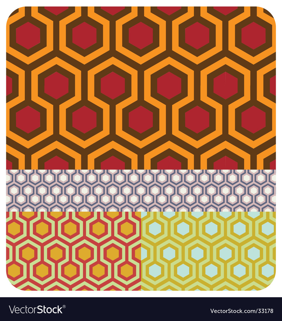 Seamless honeycomb pattern set of vector image