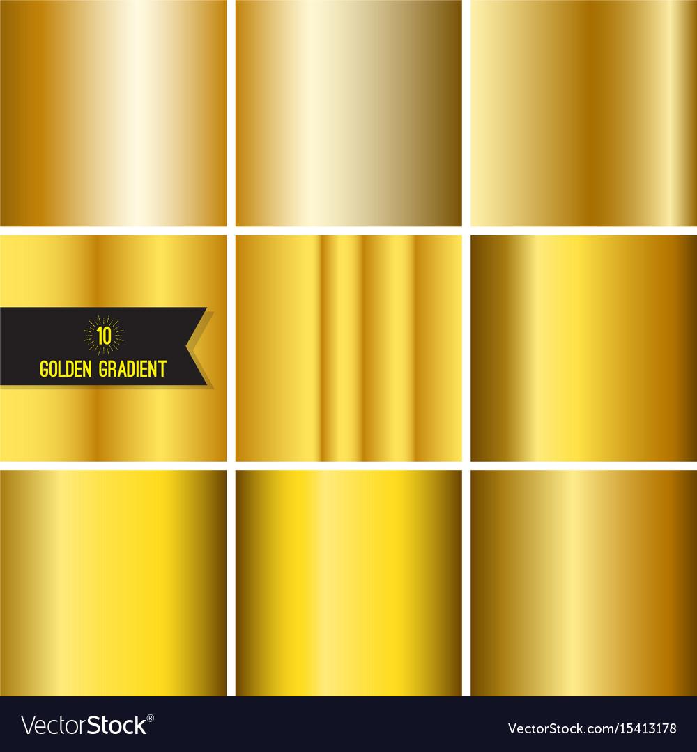 Set of gold foil texture