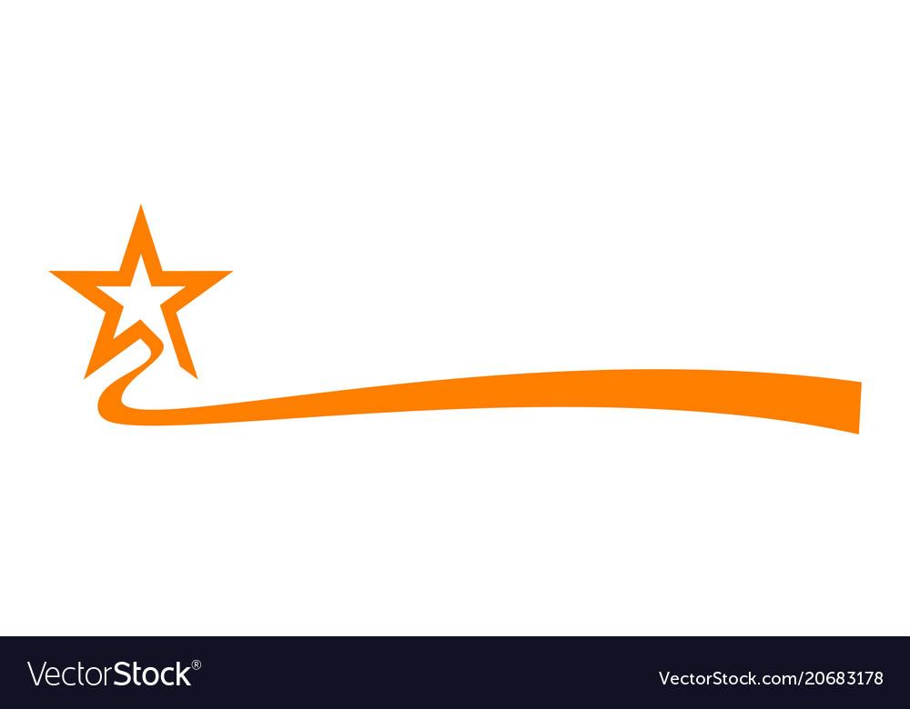 Star ribbon vector image