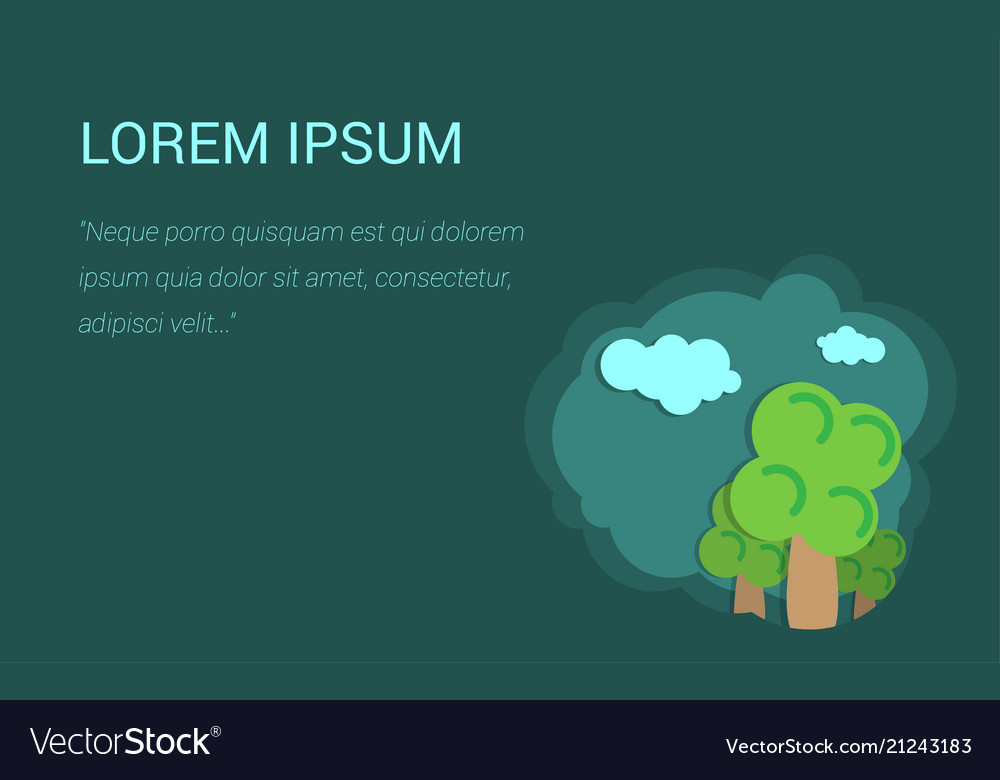 Background for presentation trees and clouds