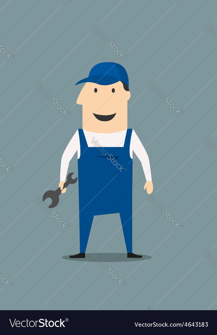 Cartoon mechanic or handy man