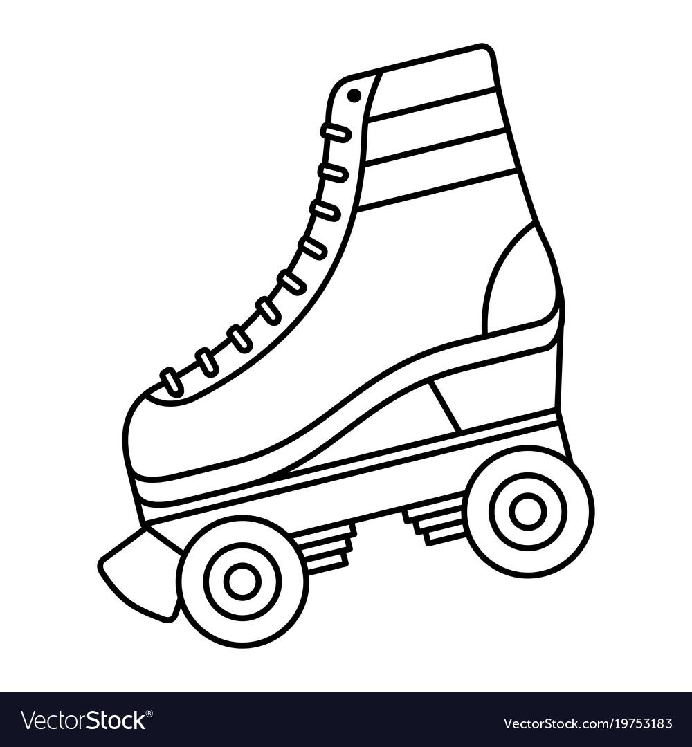 Classic roller skate laced wheels retro fashion