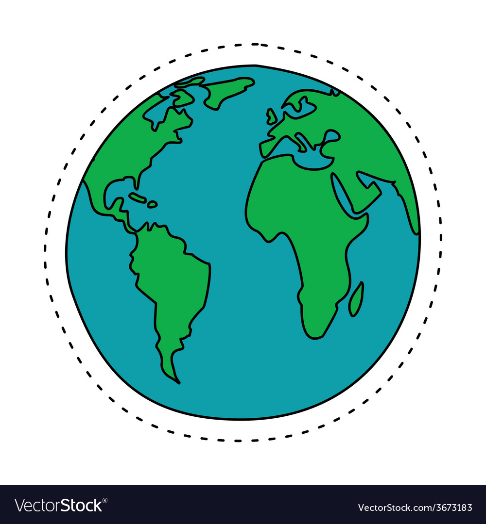 Earth In Cartoon Style North America South America It's in the northern hemisphere, between the pacific ocean and the atlantic ocean and to the north of south america. vectorstock