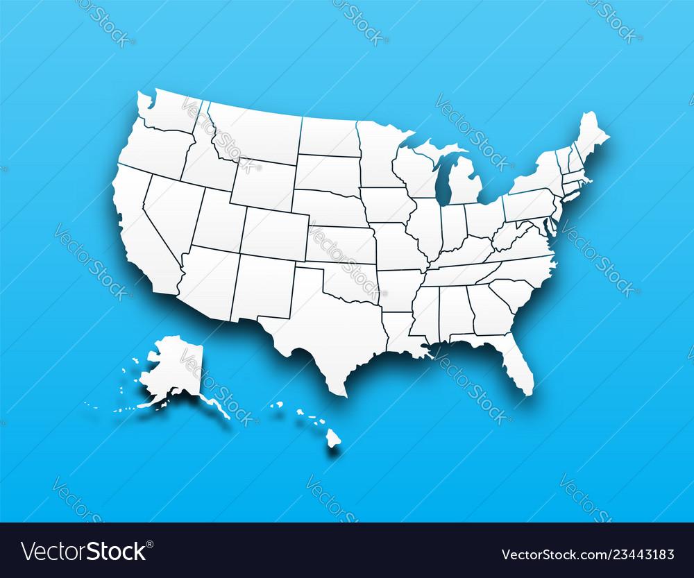 Map united state america