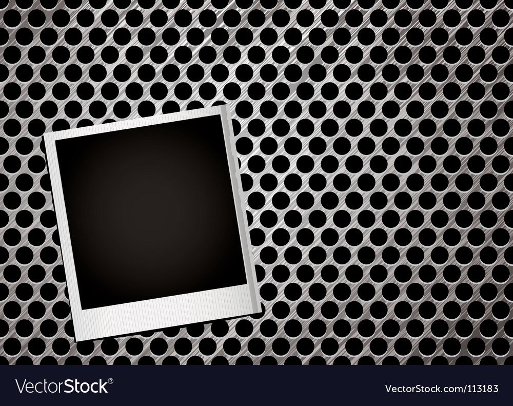 Metal grill photo vector image