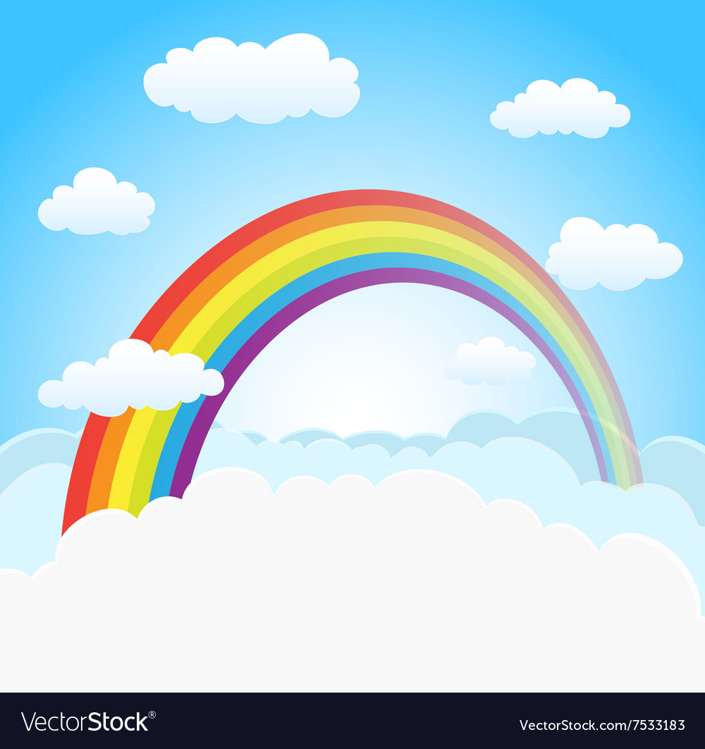 sky background with rainbow royalty free vector image rh vectorstock com vector skydiving container vector skydiving rig