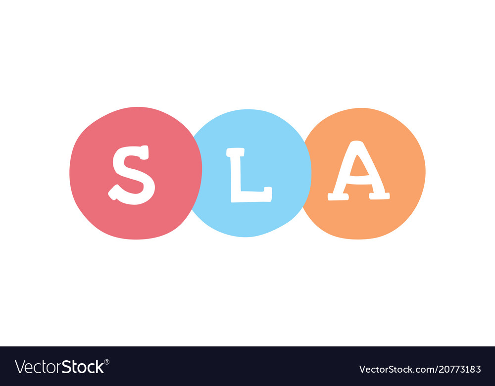 Sla Marketing Concept Service Level Agreement Vector Image