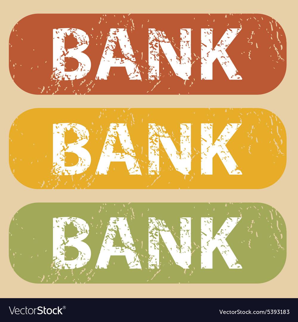 Design Vintage Bank.Vintage Bank Stamp Set Royalty Free Vector Image