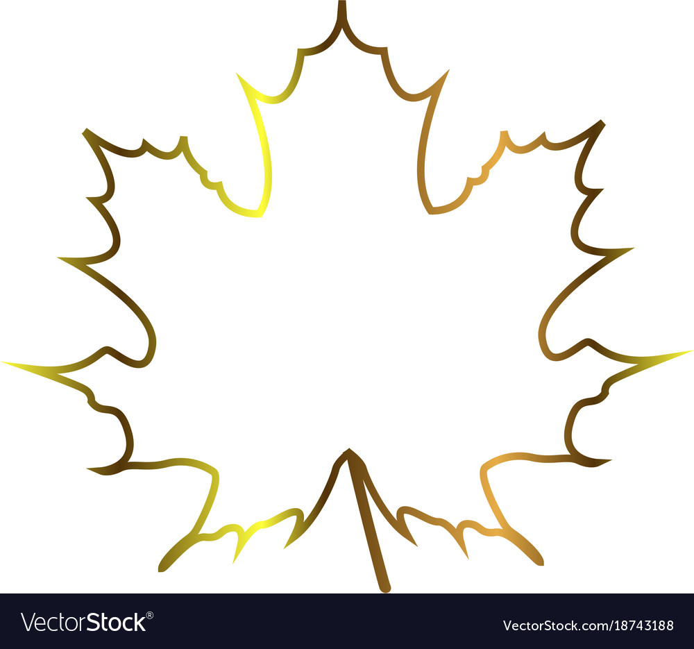 autumn leaf outline royalty free vector image vectorstock