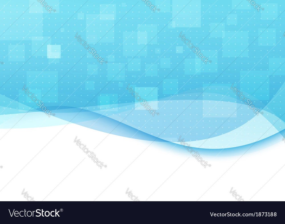Blue background with transparent waves vector image