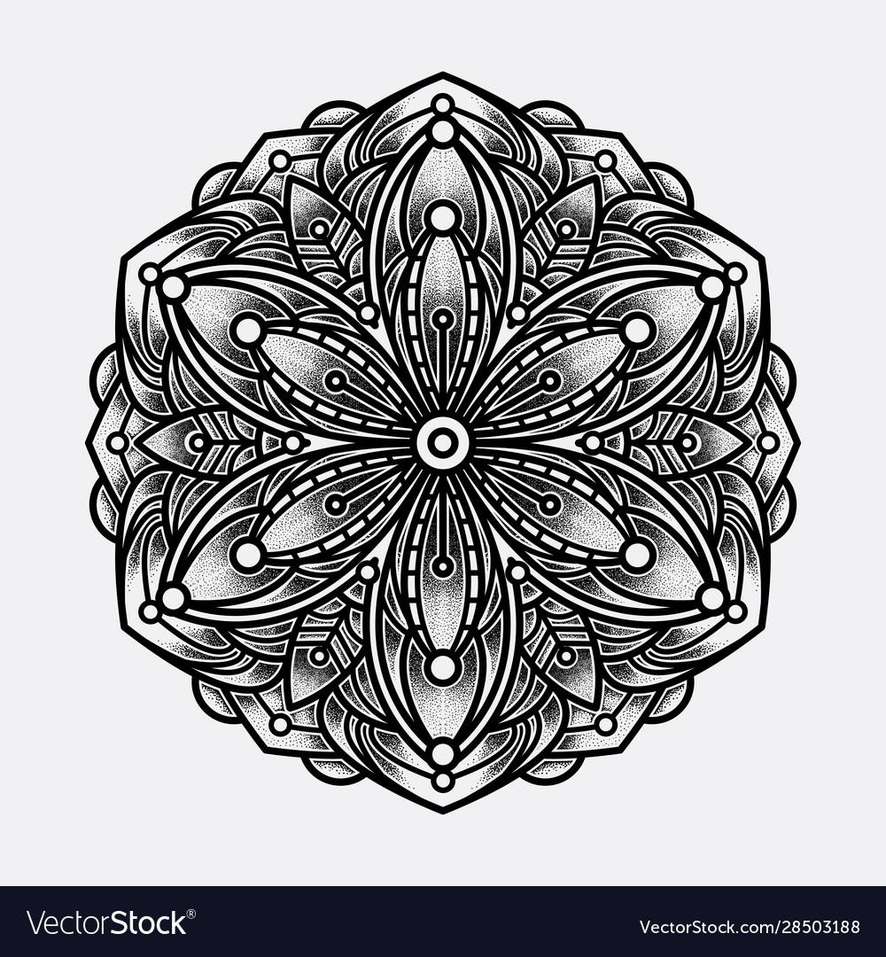 Color mandala art lines