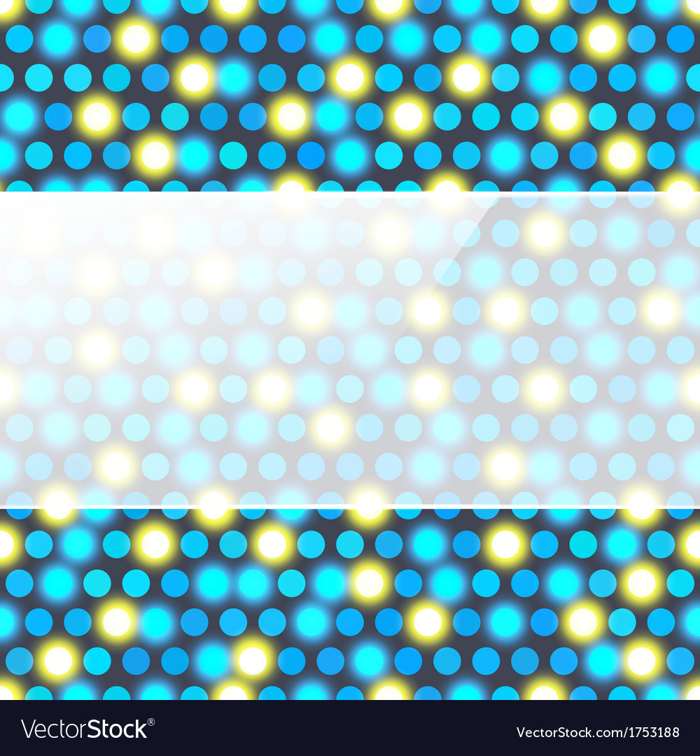Colorful Dots Abstract Background With Glass