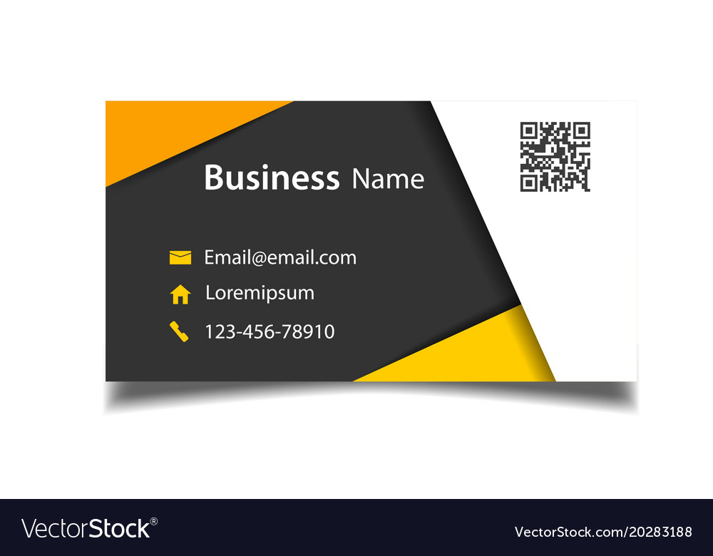 Modern Business Card Template Black Background Vec