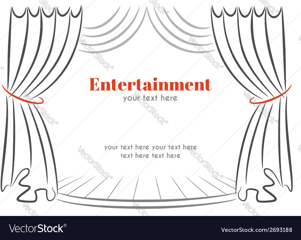 Scene with curtains vector image