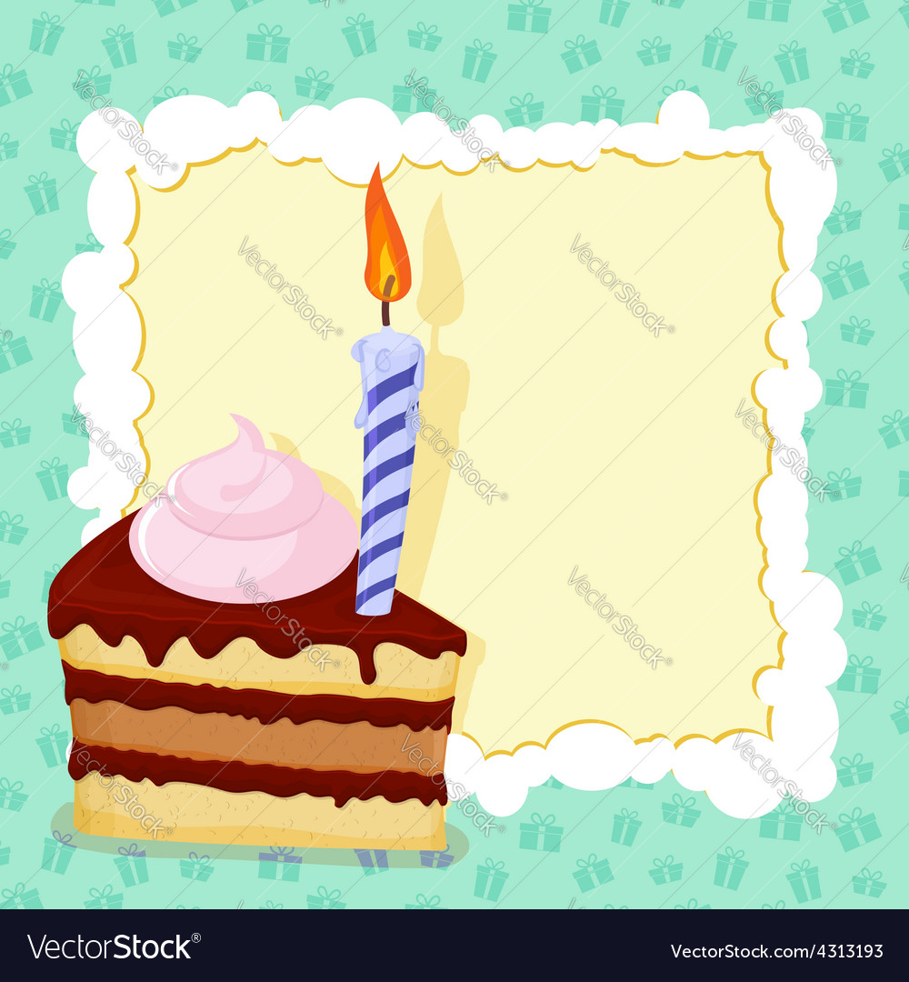 Fabulous Cartoon Funny Birthday Cake Card Royalty Free Vector Image Funny Birthday Cards Online Alyptdamsfinfo