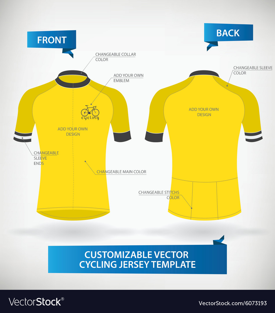 cycling jersey template royalty free vector image
