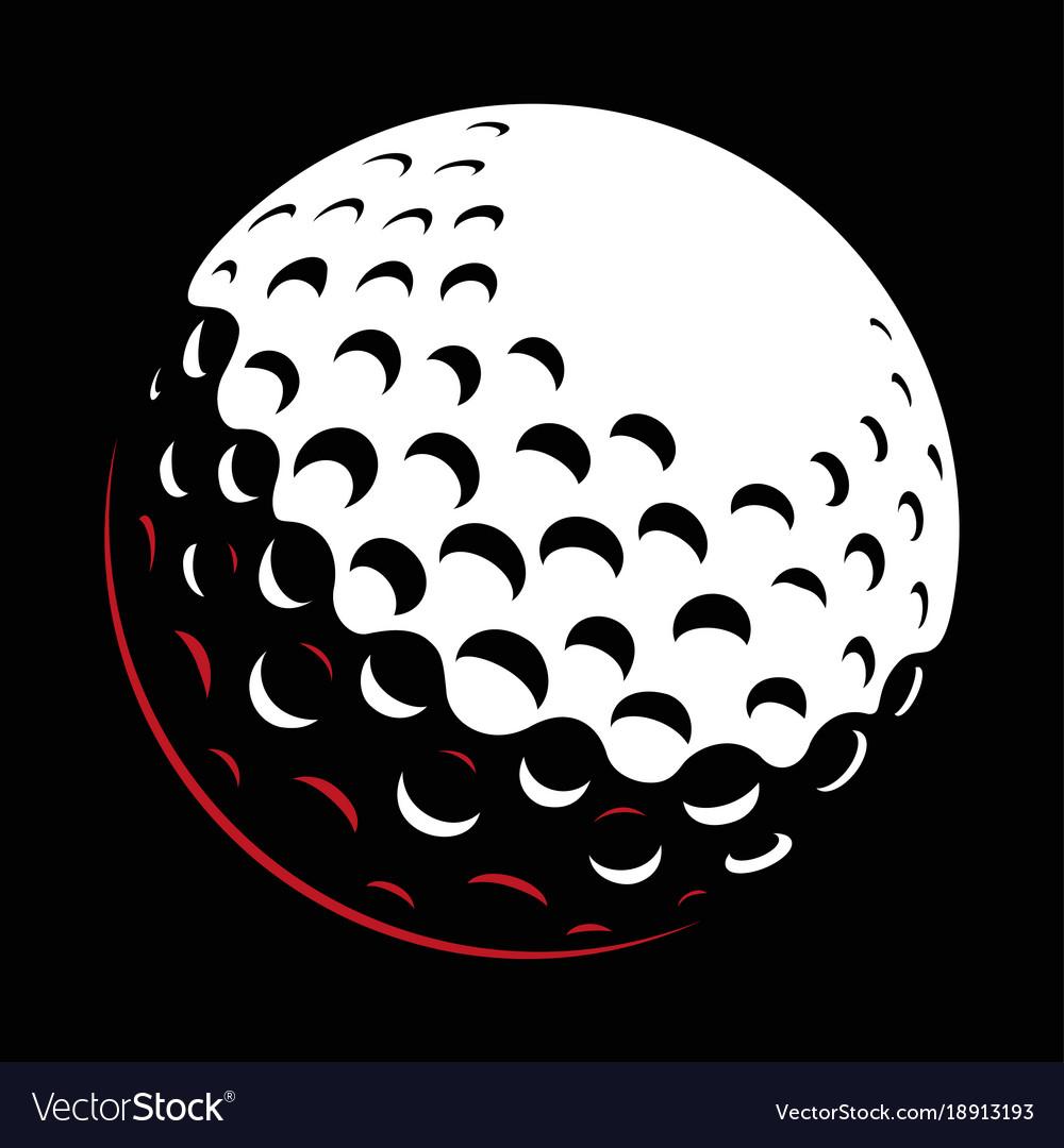 Galf ball on dark background