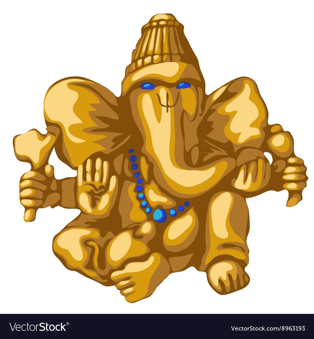 Golden statue of Ganesha religious symbol