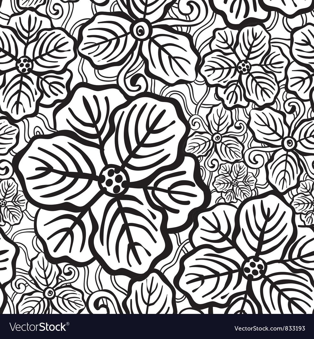 Hand drawn floral wallpaper