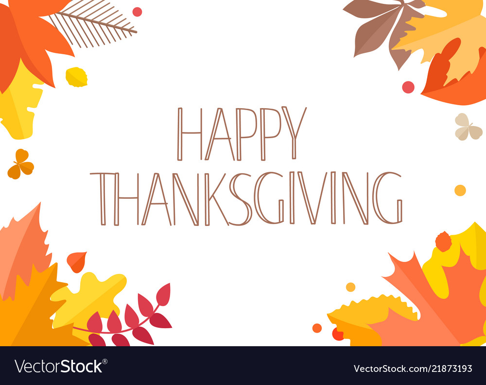 Happy thanksgiving greeting card with handdrawn