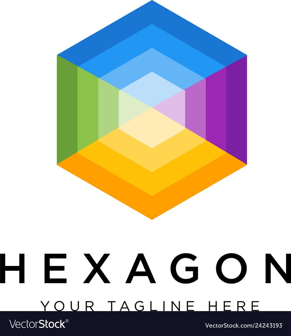 Hexagon logo concept creative minimal design