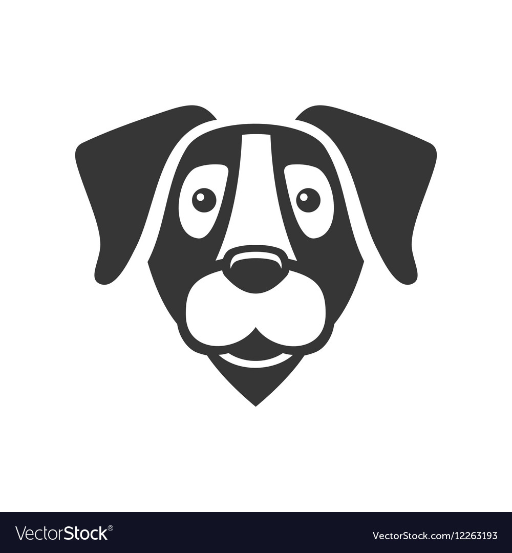 Labrador Retriever Dog Head Icon Logo