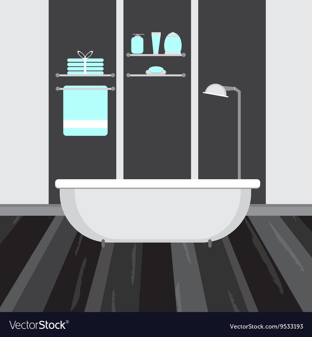 Modern bathroom interior flat