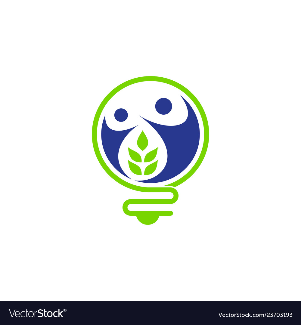 Nature and energy logo concept