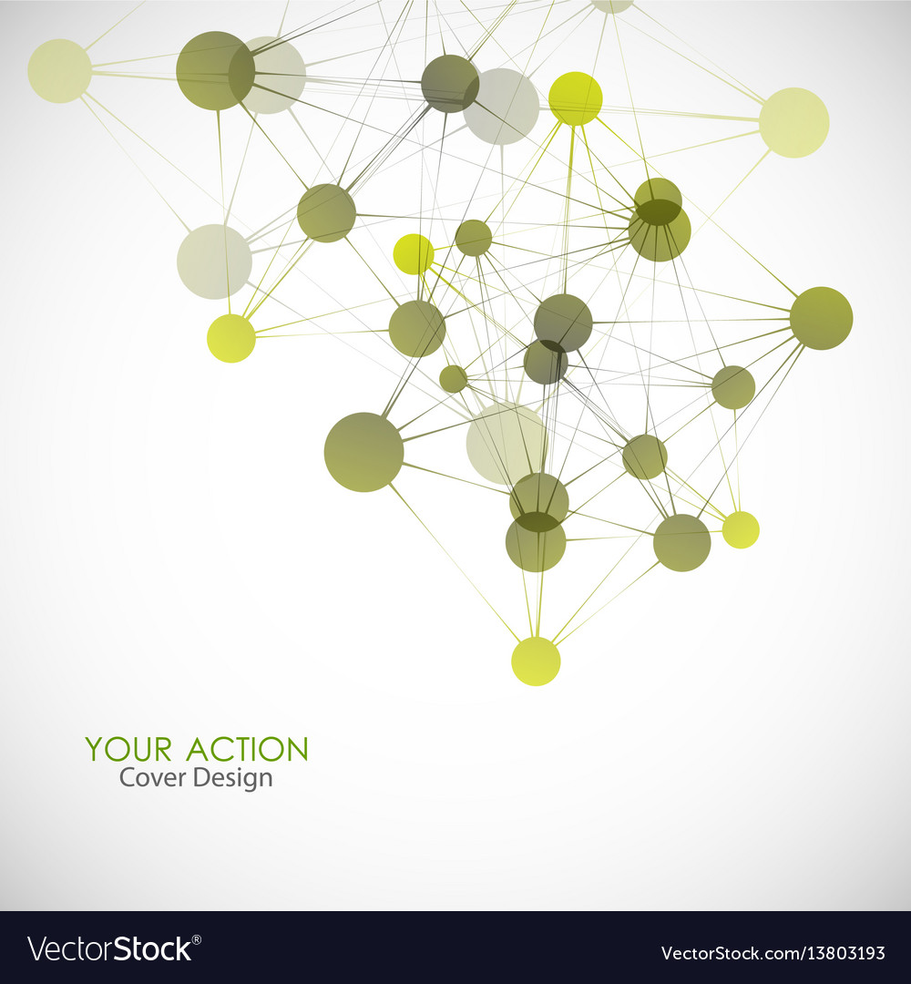 Network connect or molecule set vector image