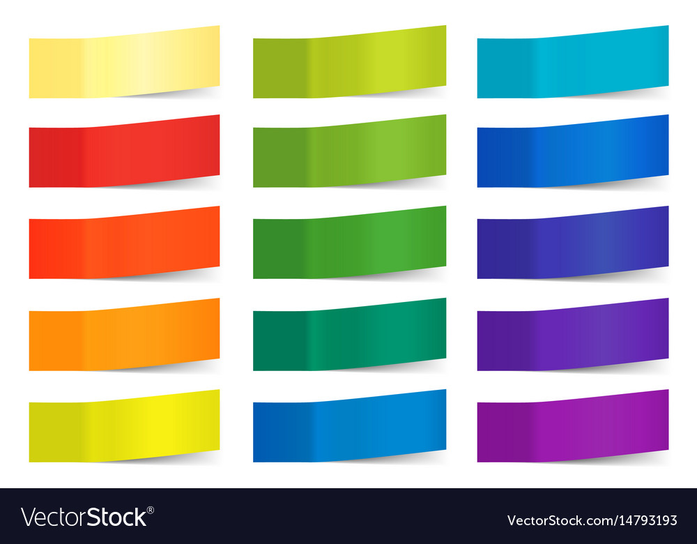 Sticky notes isolated on white colored