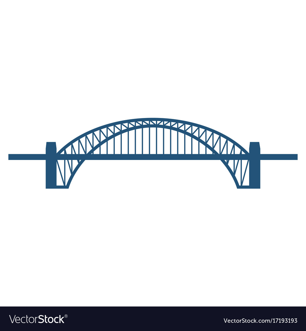 sydney harbour bridge flat blue icon isolated on vector 17193193 sydney harbour bridge flat blue icon isolated on vector image