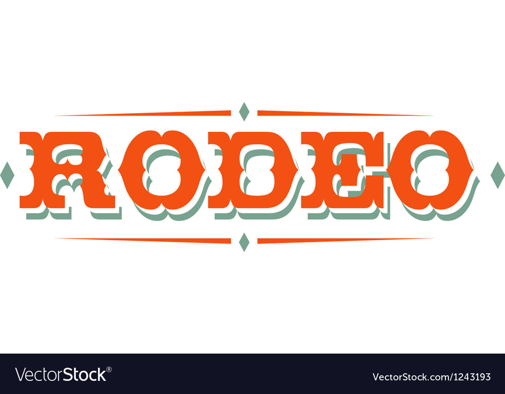 Vintage rodeo signs