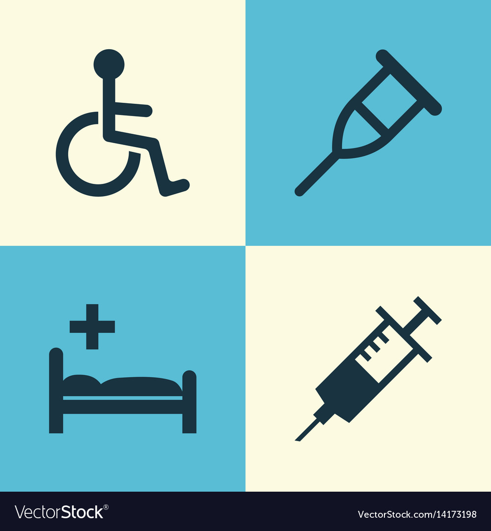 Antibiotic icons set collection of disabled