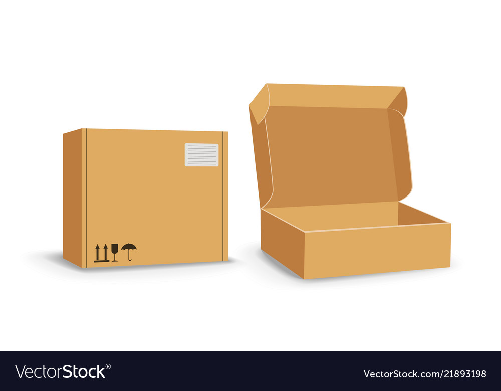 Carton packaging box delivery set of different