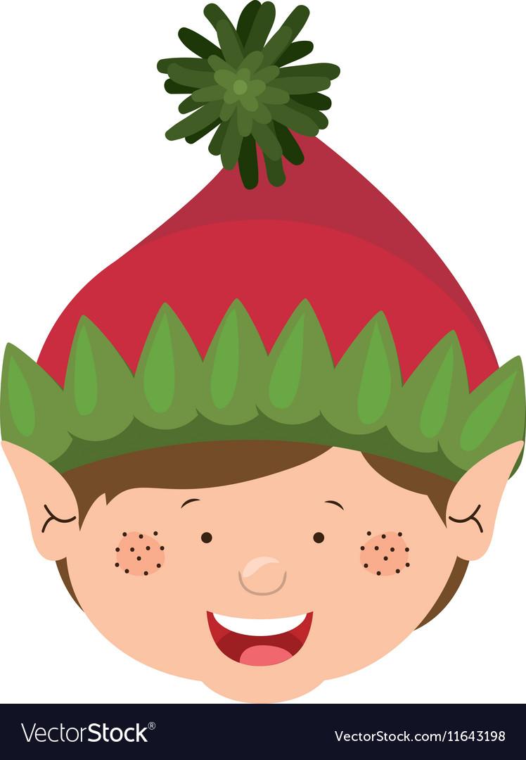 Color image of gnome boy head