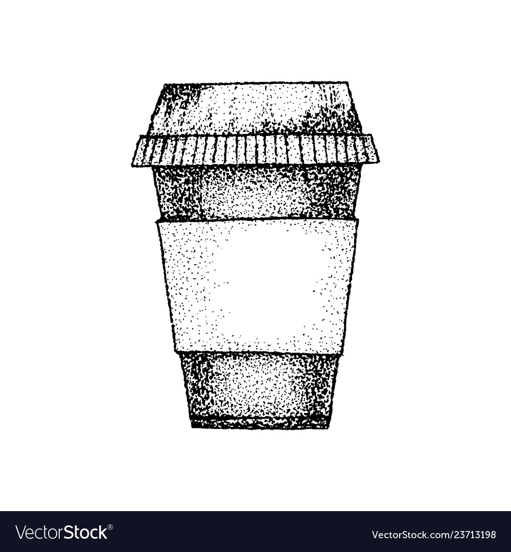 Dotwork coffee cup
