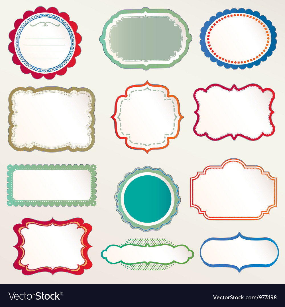 Frame labels Set vintage vector image
