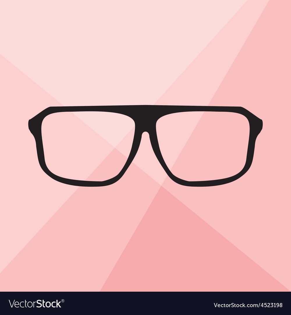 Glasses on pink background vector image