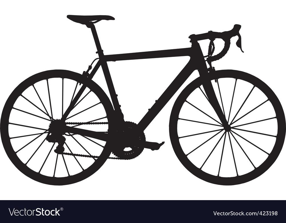 road racing bike silhouette royalty free vector image