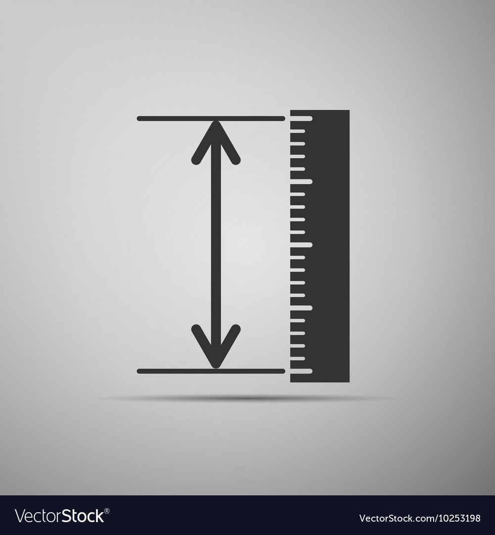 The measuring height and length icon Ruler